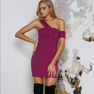 NWT runaway the label elixir dress magenta